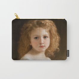 """William-Adolphe Bouguereau """"The Story Book"""" Carry-All Pouch"""
