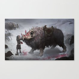 arctic war beast Canvas Print
