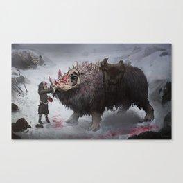 arctic war beast Canvas Print