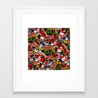 bands Framed Art Prints featuring BANDS by DIVIDUS