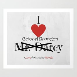 I heart Colonel Brandon - Sense and Sensibility Art Print