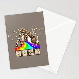 Chemistry unicorn pukes rainbow Stationery Cards