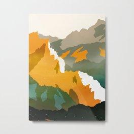 Abstract Mountains II Metal Print