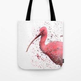 Red Ibis Portrait Tote Bag