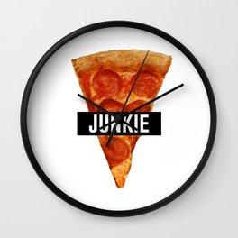 Pizza Junkie Wall Clock