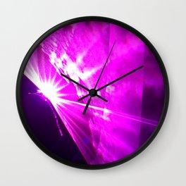 Pink laser Wall Clock