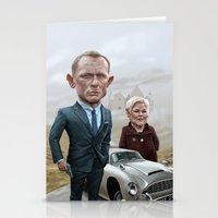 james bond Stationery Cards featuring Skyfall James Bond - Daniel Craig by Nithin Rao Kumblekar
