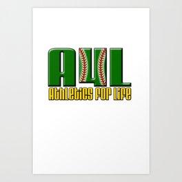 Oakland A's Shirt Design Art Print