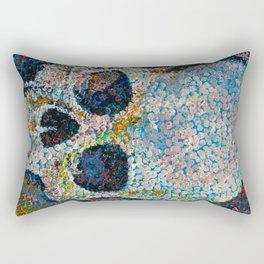 Pointillism Skull Rectangular Pillow