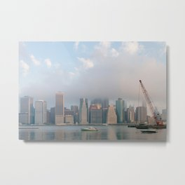 Cloudy in New York Metal Print
