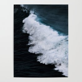 Powerful breaking wave in the Atlantic Ocean - Landscape Photography Poster