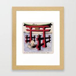 Shrine Gate Framed Art Print