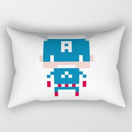 Pixel Captain America Rectangular Pillow