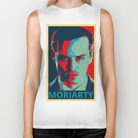 moriarty Biker Tanks featuring MORIARTY by Pop Atelier