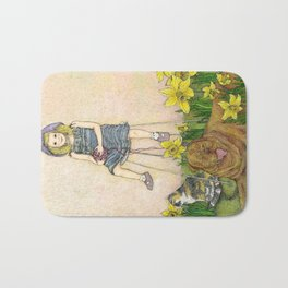 Girl with Daffodils: Don't Forget Me.  Bath Mat