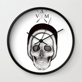 Beanie Skull Wall Clock