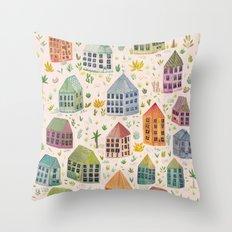 Cactus Town Throw Pillow
