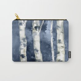 Birch forest blue Carry-All Pouch