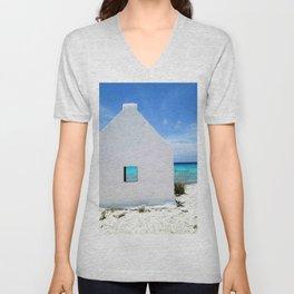 Beach Dwelling, Bonaire Unisex V-Neck