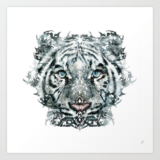 The White Tiger (Classic Version) Art Print
