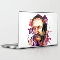coldplay Laptop & iPad Skins featuring Cossack Ivan Sirko listen music by Sitchko Igor