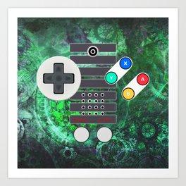 Classic Steampunk Game Controller Art Print