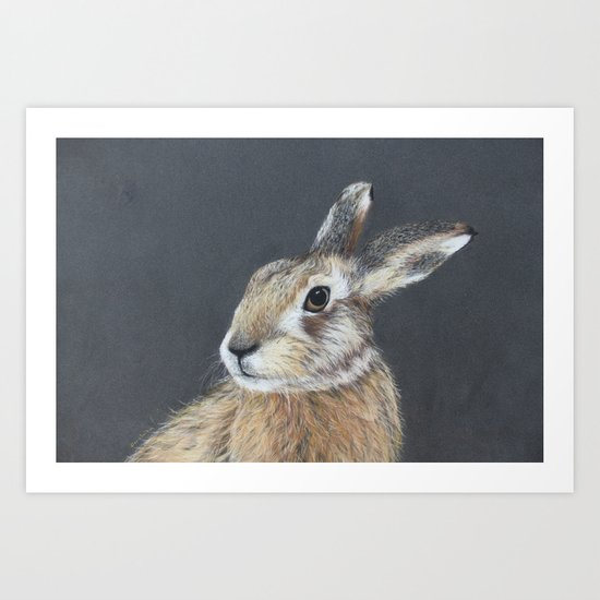 The Hares Stare Art Print