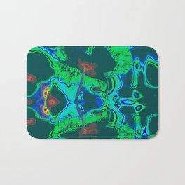Blue color Poppy flower Bath Mat