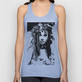 Water Nymph - sexy girl conte, beautiful brunette topless, hot girl nude outdoors, sensual erotic Unisex Tank Top
