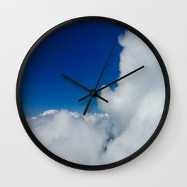 Flying in the Clouds Wall Clock