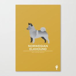 Norwegian Elkhound Canvas Print