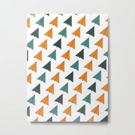 Origami Planes Metal Print