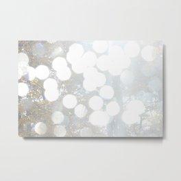 White Bokeh Metal Print