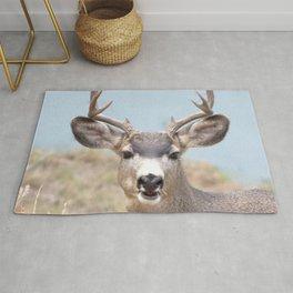 Watercolor Deer, Mule 14, Estes Park, Colorado, Hi There! Rug