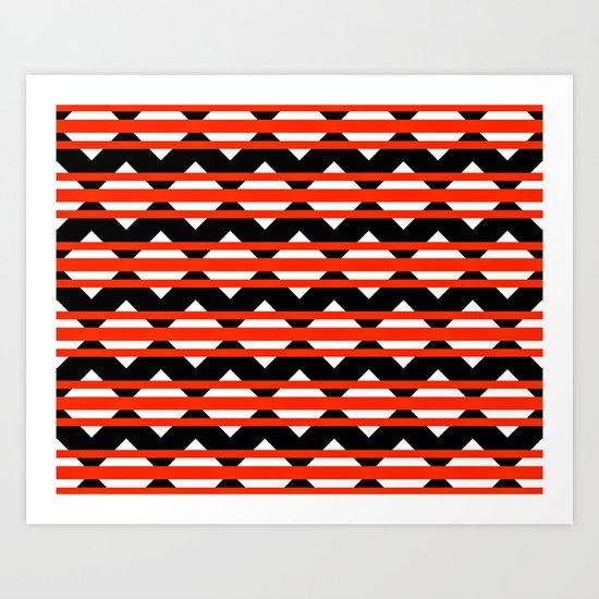Vreugdehil Black & Red Art Print