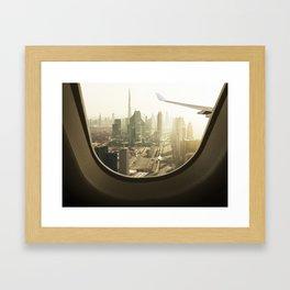 aerial view skyline of dubai Framed Art Print