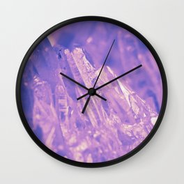 Purple Crystal Wall Clock