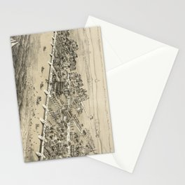 Vintage Pictorial Map of Sea Isle City NJ (1885) Stationery Cards