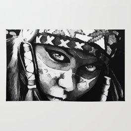 Native American Girl Rug