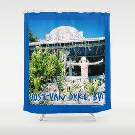 Ivan's on Jost Van Dyke, BVI- World's best honor bar! Shower Curtain