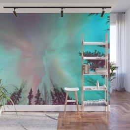 Deep Pastel Aurora Borealis Wall Mural