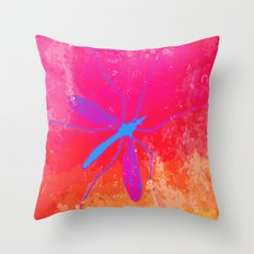 blue insect Throw Pillow