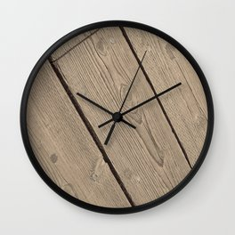 Wood Paneling Wall Clock