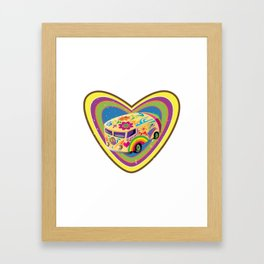Love Van Framed Art Print