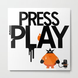 Press the green button : idokungfoo.com Metal Print