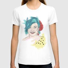 Blue haired girl T-shirt