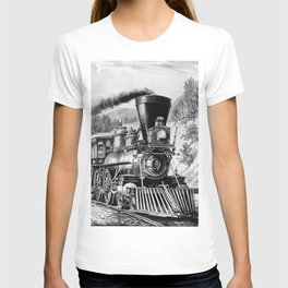 The Express Train: Currier & Ives 1870 T-shirt