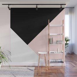 Blush meets Black & White Geometric #1 #minimal #decor #art #society6 Wall Mural