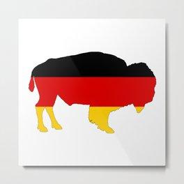 German Flag - Bison Metal Print