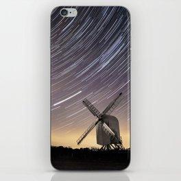 Windmill on a starry night iPhone Skin